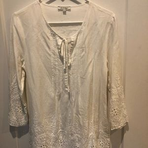 Beautiful white long sleeve lace top